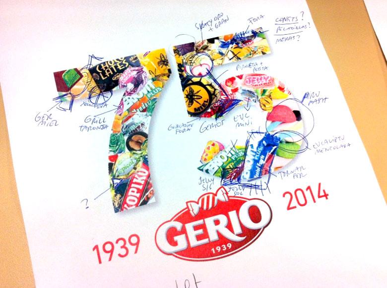 Logo 75 años Gerio, Configirona S.A.