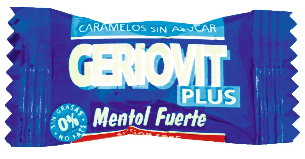 Geriovit Plus mentol fuerte, sin azúcar y con Stevia