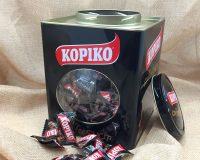 Lata coleccionable con caramelos de café Kopiko