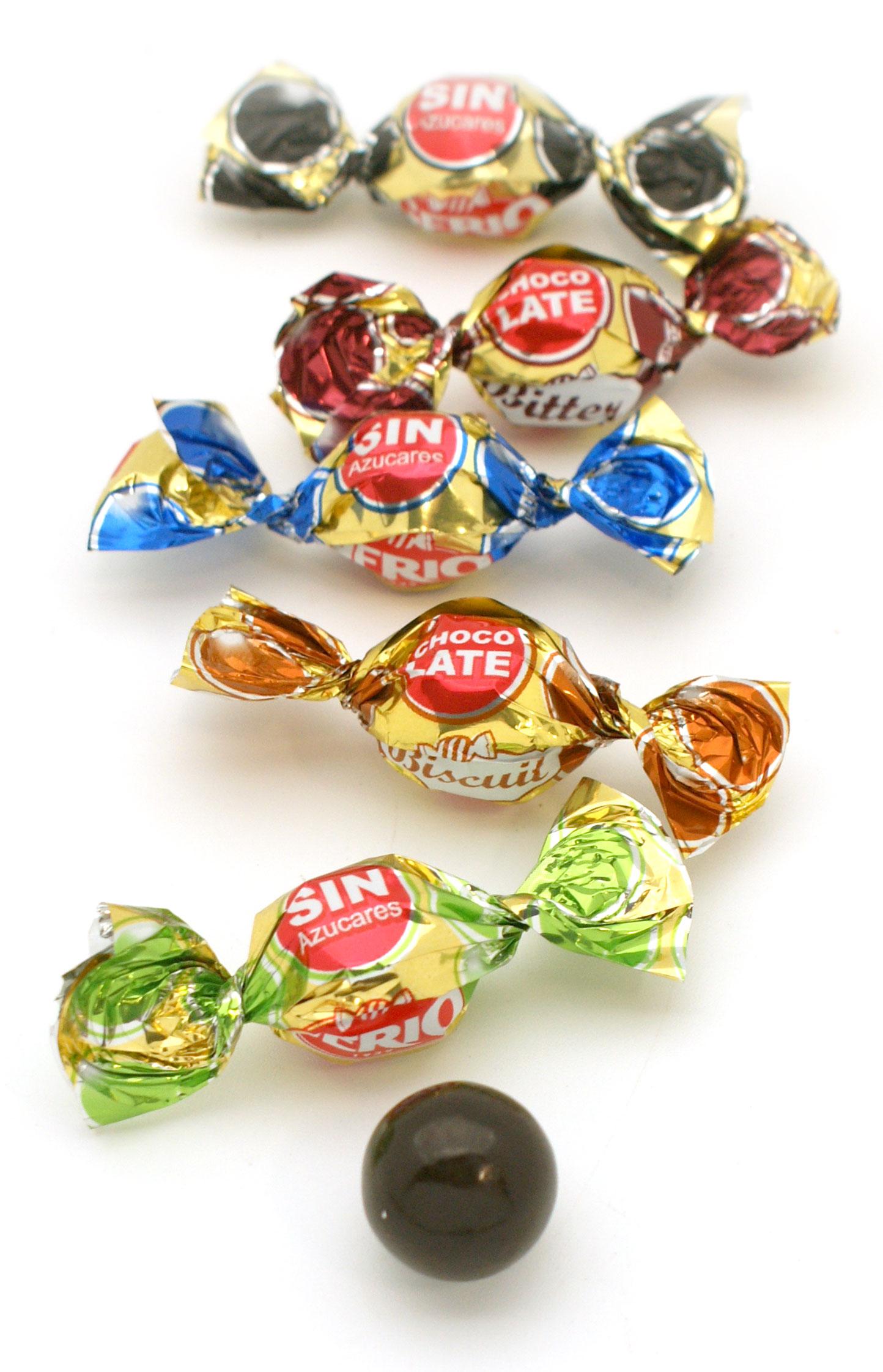 Surtido de bombones sin azúcar