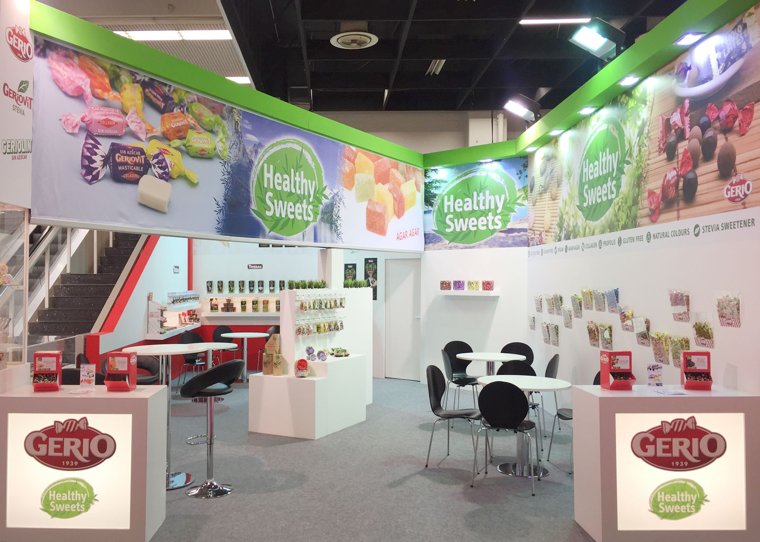 Gulfood 2018 Dubai Sugar-free and gluten-free candies, chews and healthy sweets.