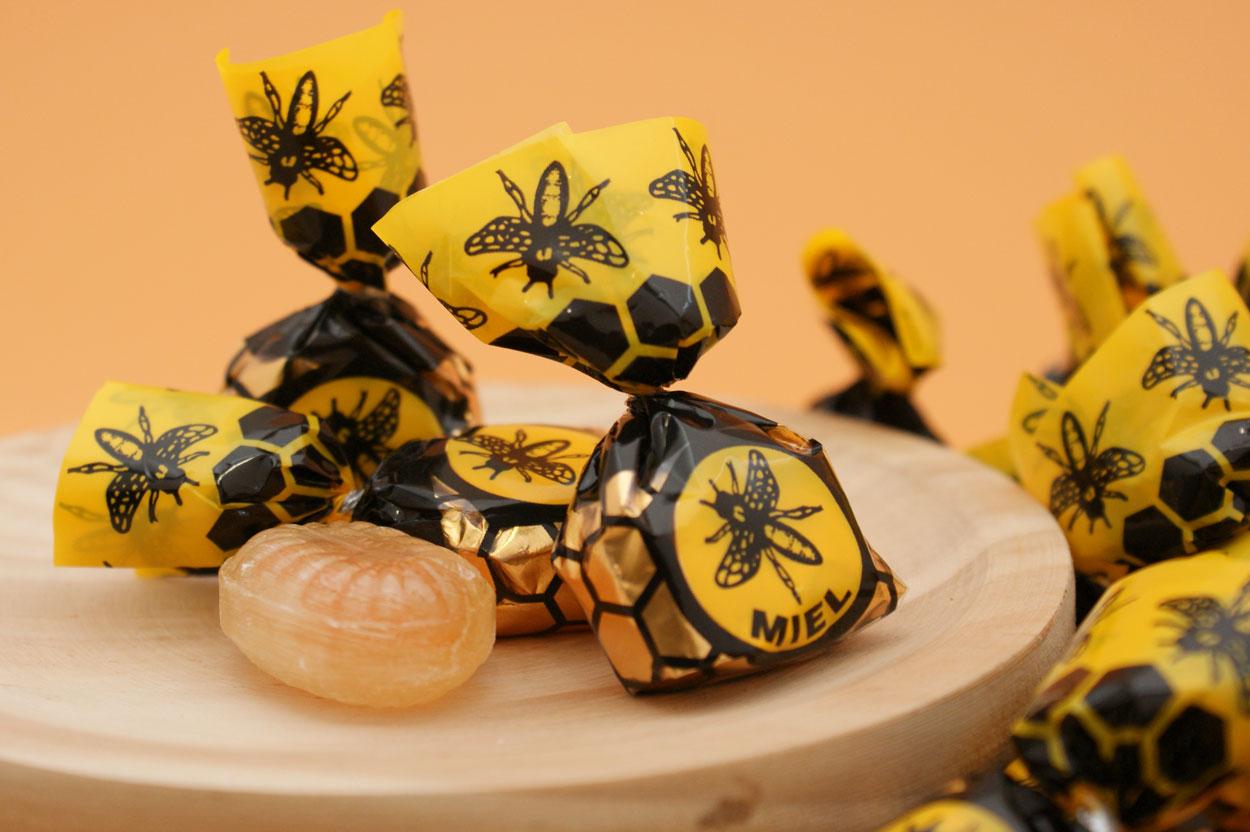 Caramelos rellenos de miel natural mil flores, sin gluten, de Gerio