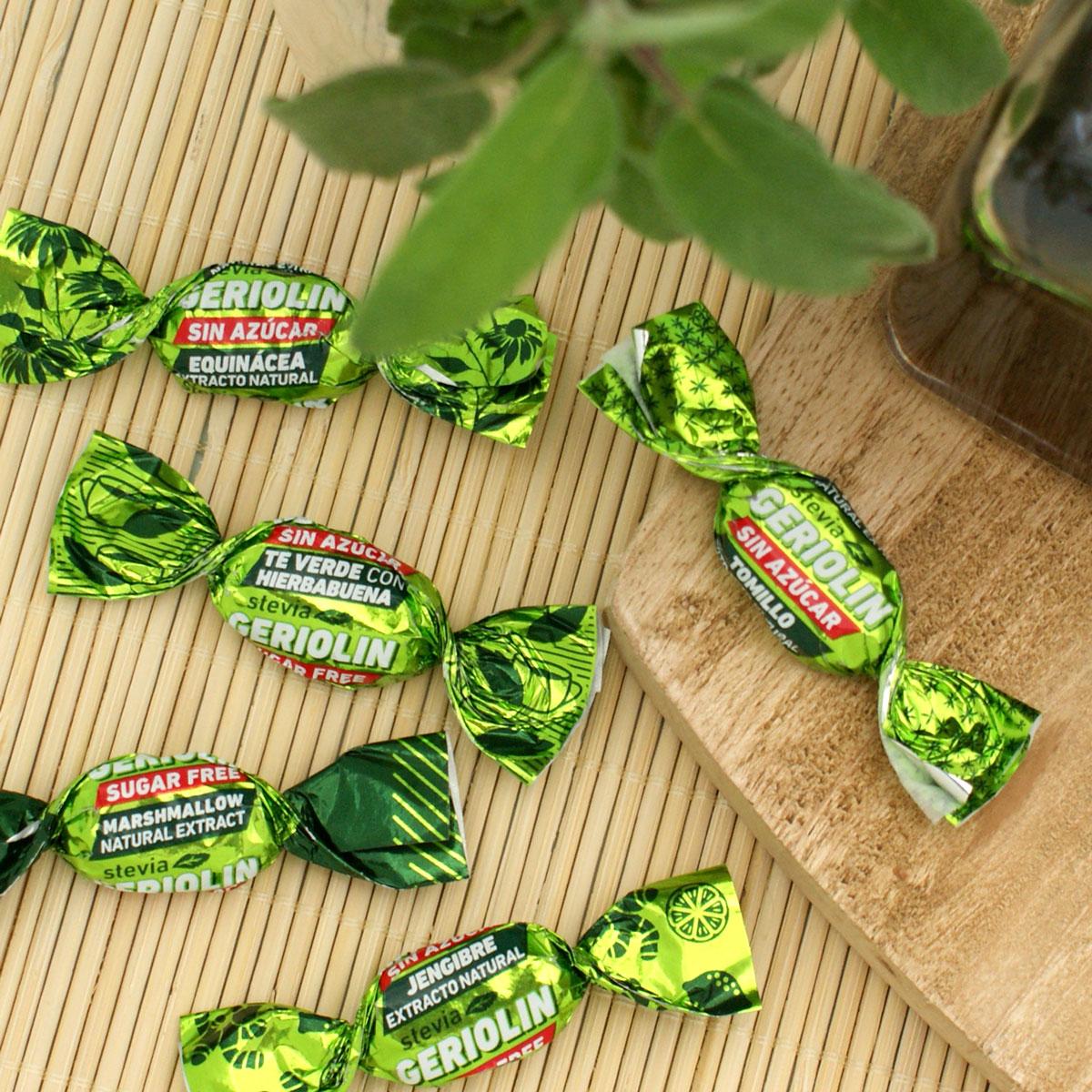 Caramelo sin azúcar hierbas silvestres