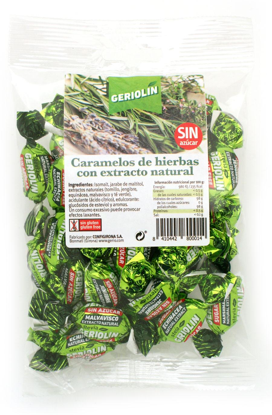 bolsa caramelos hierbas naturales sin azúcar