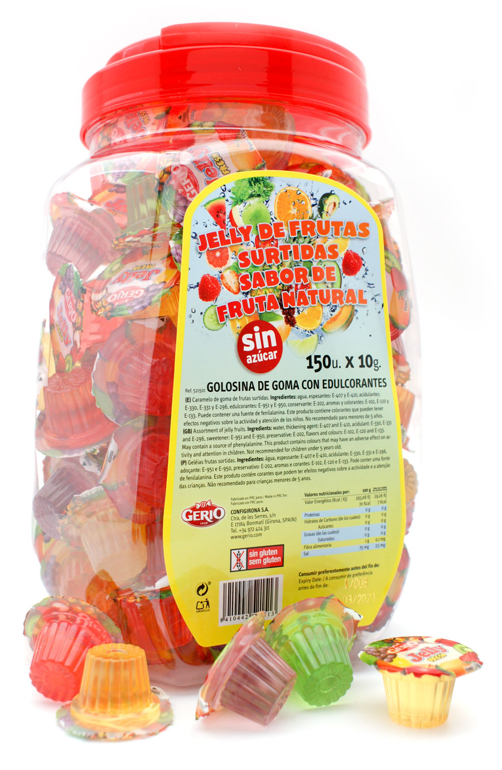 surtido jelly tarrinas sin azúcar