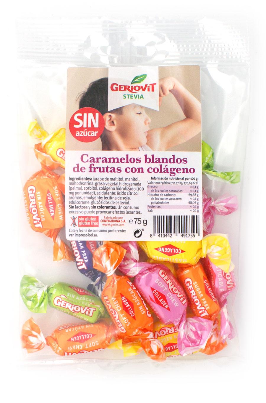 Masticables sin azúcar con colageno surtido frutas