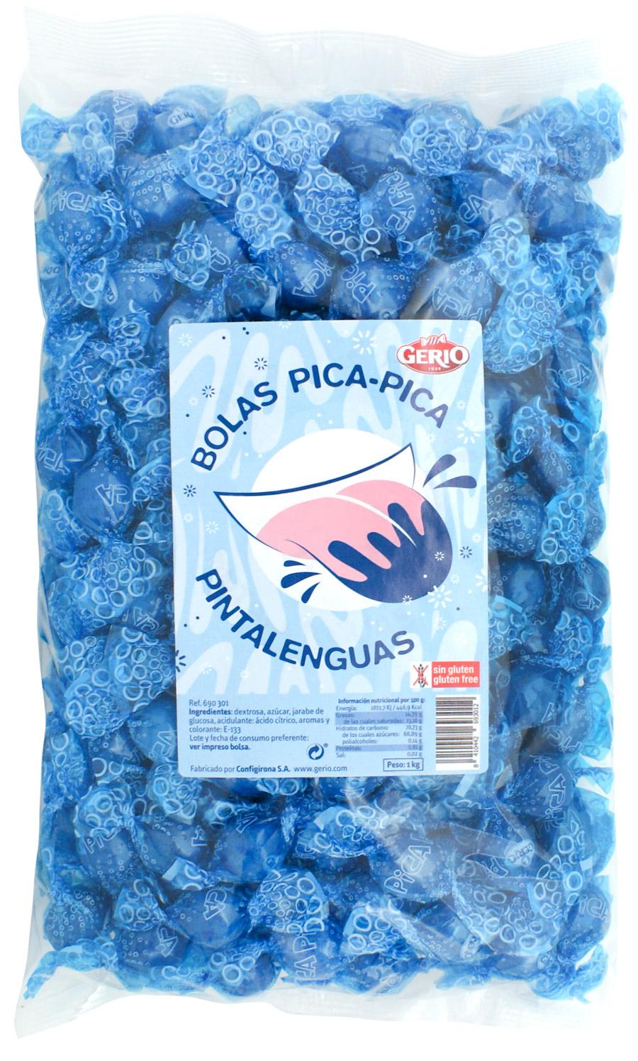 bolas ácidas pica pica pinta lenguas azul