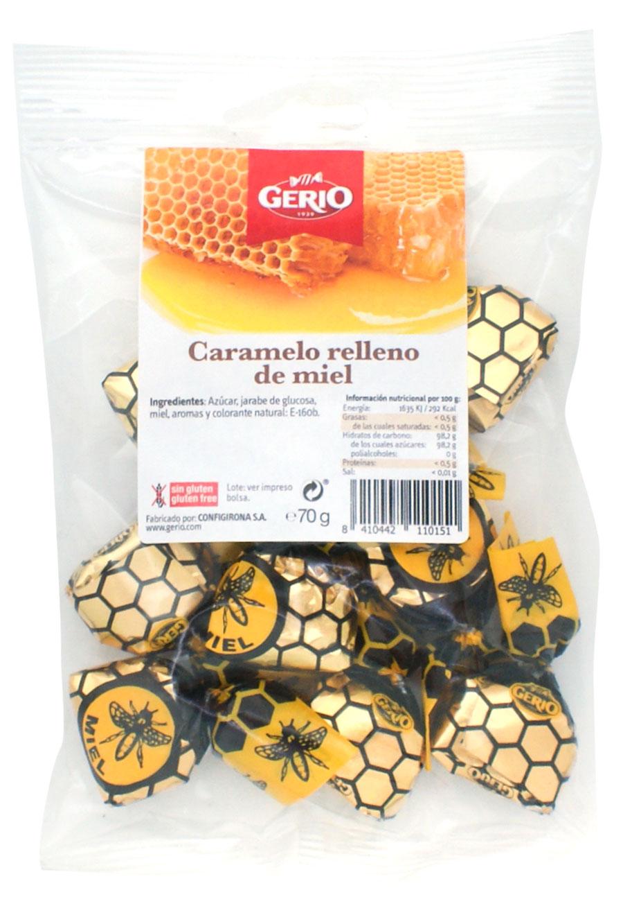 caramelos rellenos de miel natural