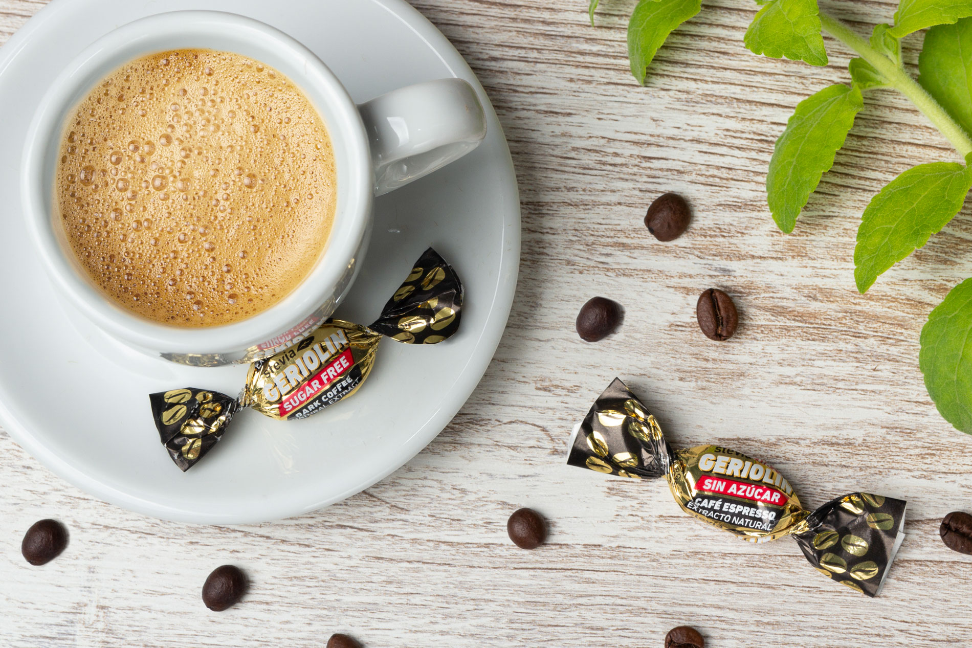 Sugar free coffee candy